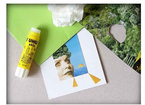 tableau collage colle papier magazine olivier leduc
