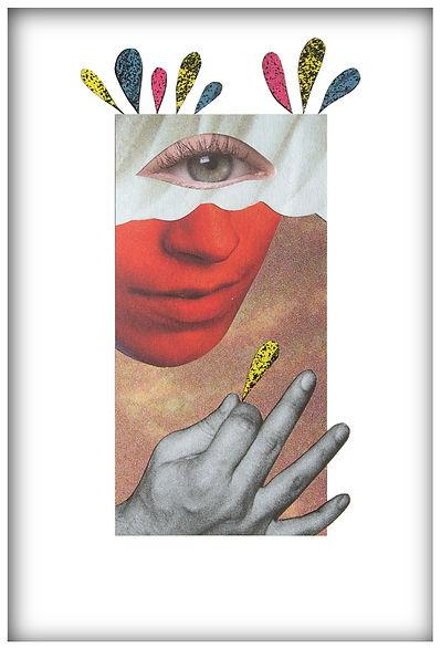 monstre cyclope collage papier magazine œil olivier leduc
