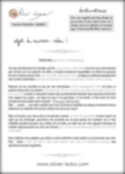 courrier lettre olivier leduc
