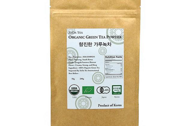 ZEDA Tea - Korean 100% Pure Organic Matcha Green Tea Powder