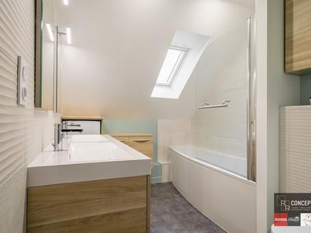 Salle de bains naturelle & lumineuse au rendez-vous...