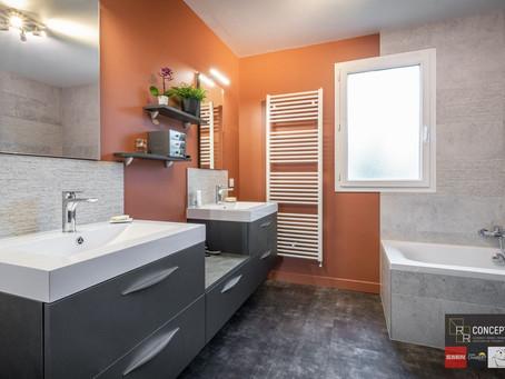 Salle de bains aux saveurs de l'automne