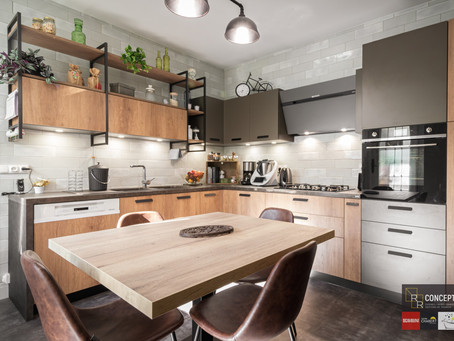 Une belle cuisine au style atelier très intemporel...