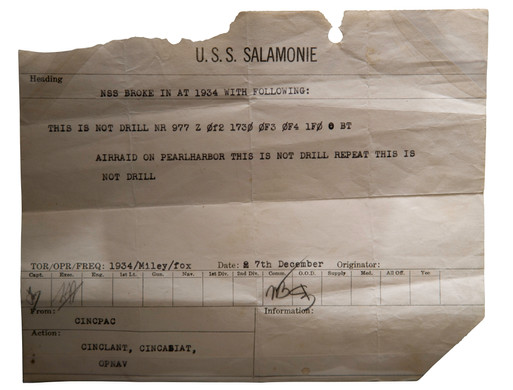 Notice from Pearl Harbor