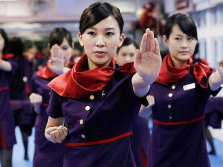 Hong Kong Flight Attendants are Taught Wing Tsun for Self-Defense