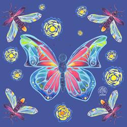 Butterfly & Fireflies