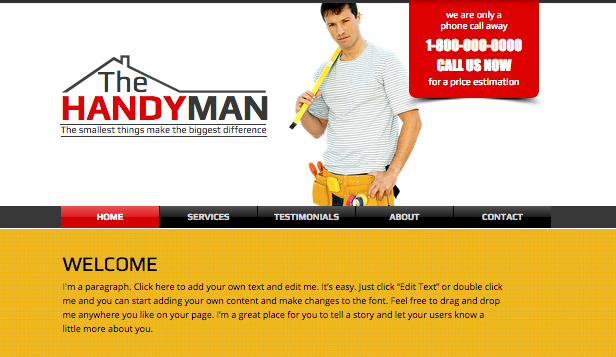 Services & Maintenance website templates – Handyman