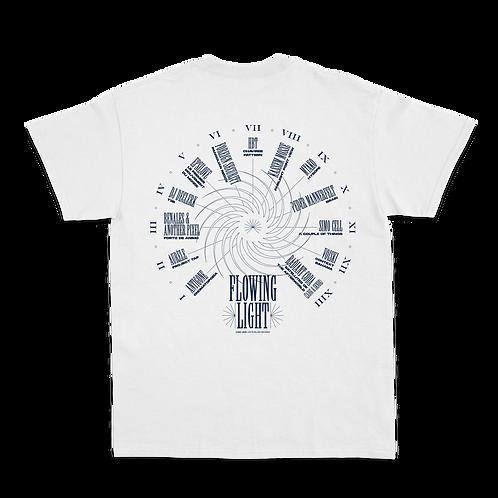 T-shirt blanc Flowing light (édition limitée)