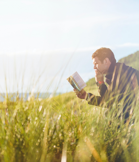 Reading in field.png