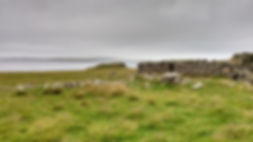 Croft Remains, Broch of Burra Ness in Ba