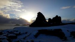 Jarlshof in the Snow