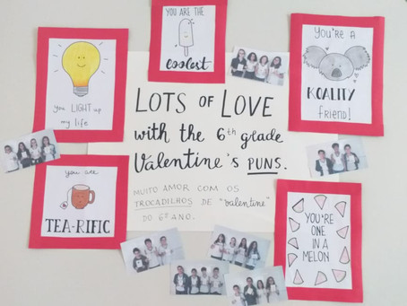 6º ano: divertidos trocadilhos no Valentine's Day
