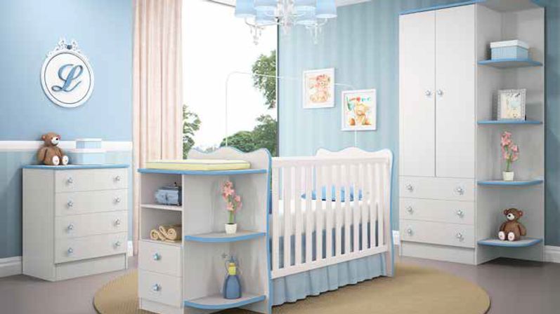 Baby Bedroom (Cot+Mattress+Wardrobe+Drawers)