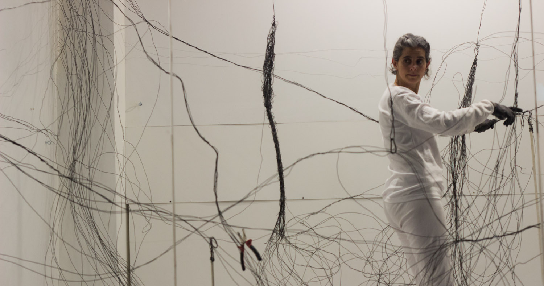 ¿Araña? No Dibuja! Valeria Conte Mac Donell 2015, registro performance
