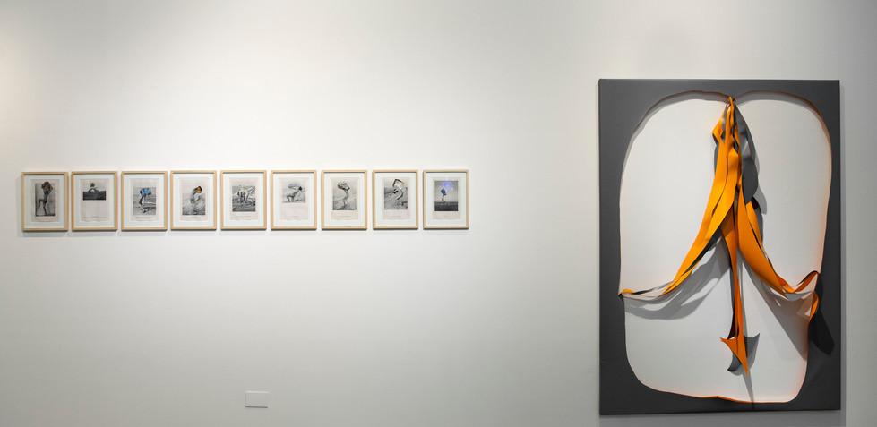 De coreografías visuales y cuerpxs extrañxs 2019 Nino Cais, Sin título Collage Kirsten Mosel, #7 Cutout sobre lona