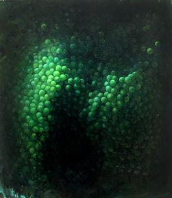 Lula Mari. Molecular Verde. 60 x 50 cm. Óleo sobre tela. 2018.jpg