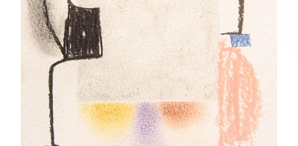 Dibujos Serie- Pensamientos Difusos Mara Caffarone 2020, pastel tiza sobre papel 25cm x 18cm