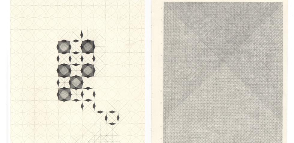 Los motivos Maxi Rossini 2019, Sin título Mina 03 de grafito sobre hoja de cuaderno impresa