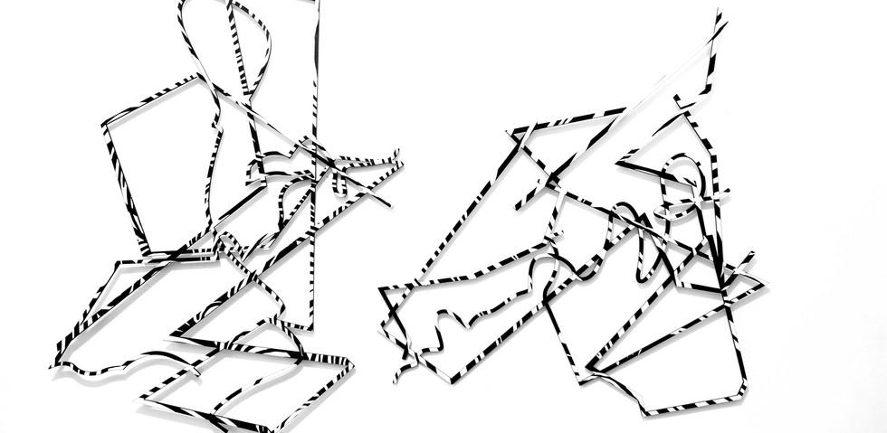 #2  Julia Masvernat acrilico sobre mdf con corte laser 2018, 90cm x 60cm