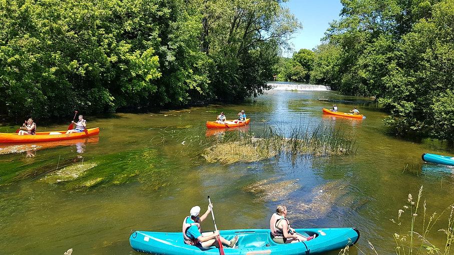 Départ en canoë de Chenaud Parcoul Canoe