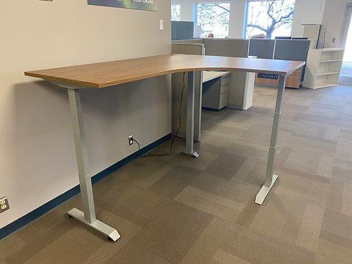 Height Adjustable Wrap Around Desk