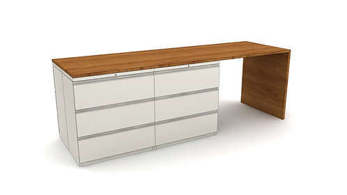 Custom Filing Cabinet Tops - With Gables