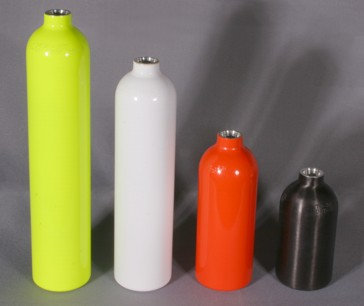 Cylinder Black Anodized - Bombola Nera anodizzata