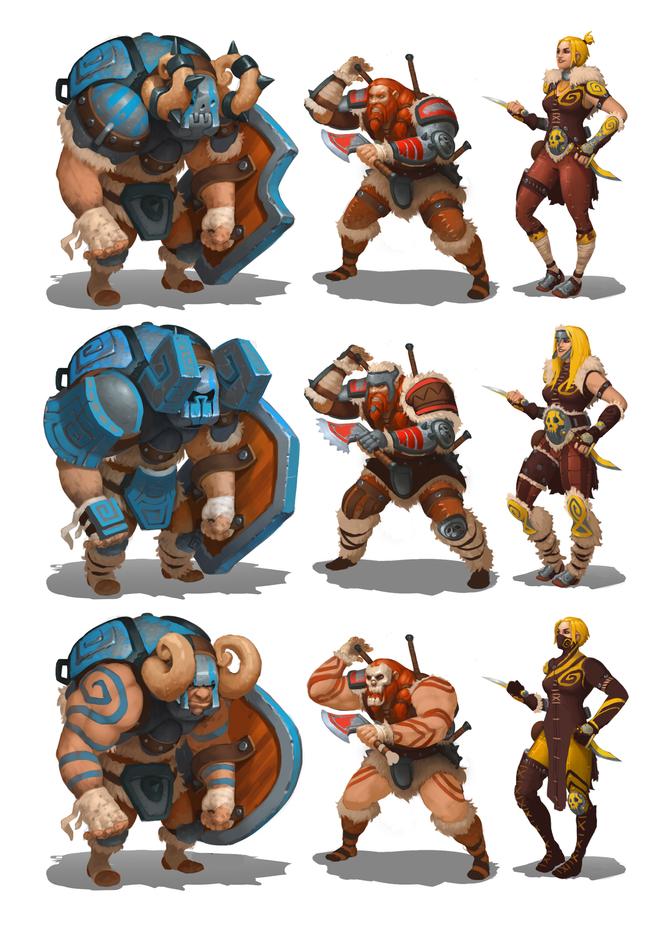 Concept Art - Enemies Variants