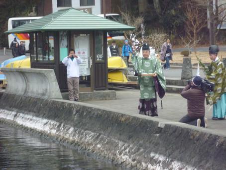 第60回水上安全祈願祭 湖水開き 水上スキー初滑り