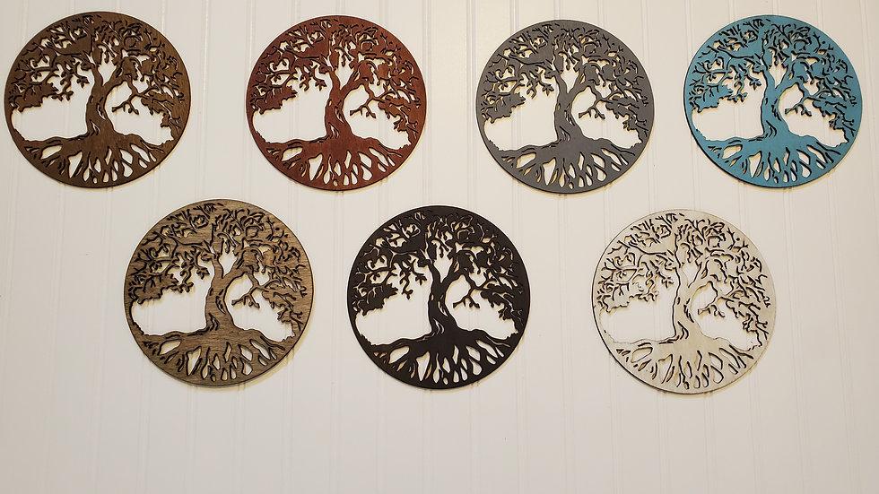 Tree of Life Round Wall Art Home Decor
