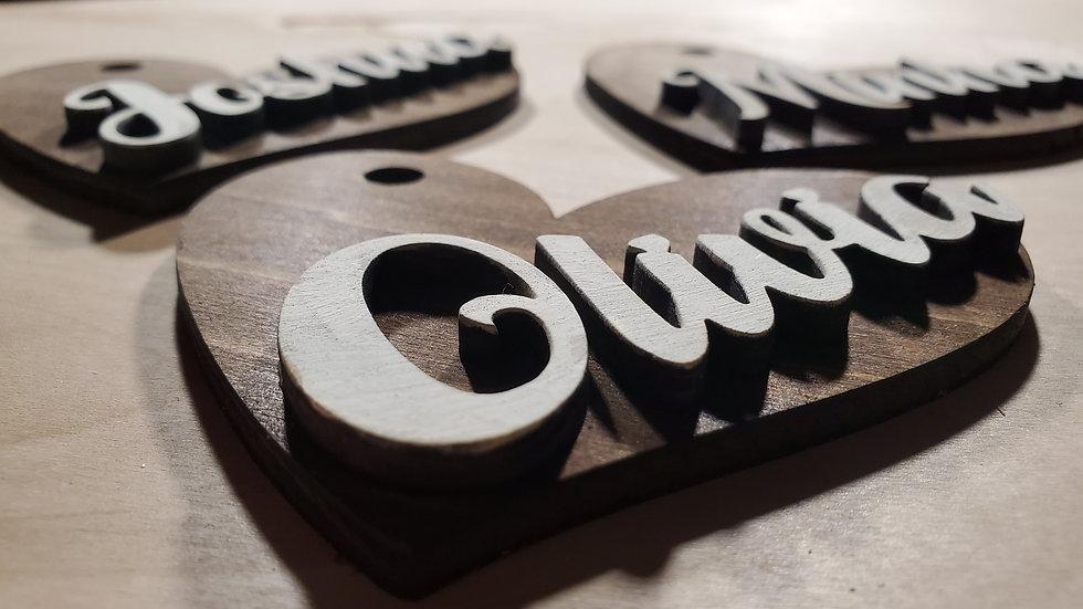 Heart Shaped Name Charms