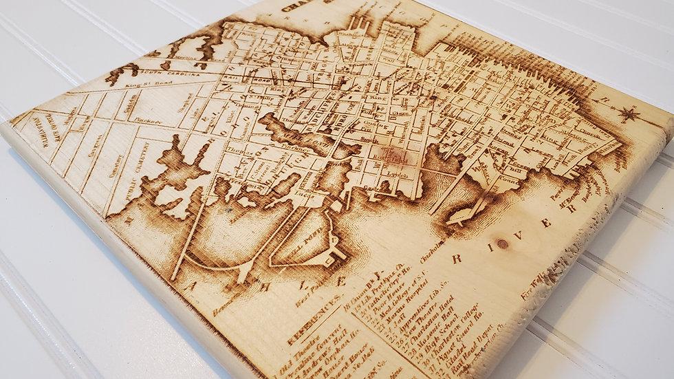 Engraved Antique Charleston Map