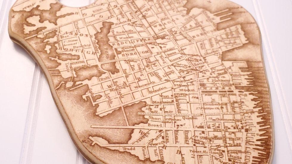 Historic Charleston Map Charcuterie Board