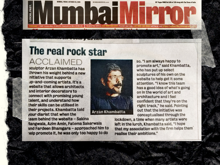 Eztablish Art featured in Mumbai Mirror