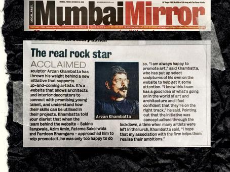 Eztablish Art - Mumbai Mirror