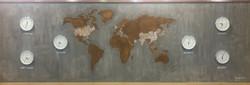 Concrete & Rust World Map