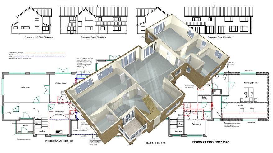 Woodbridge. Plans for Planning and Building Control Approval