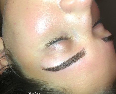 Microblading +Microshading done by Kasia