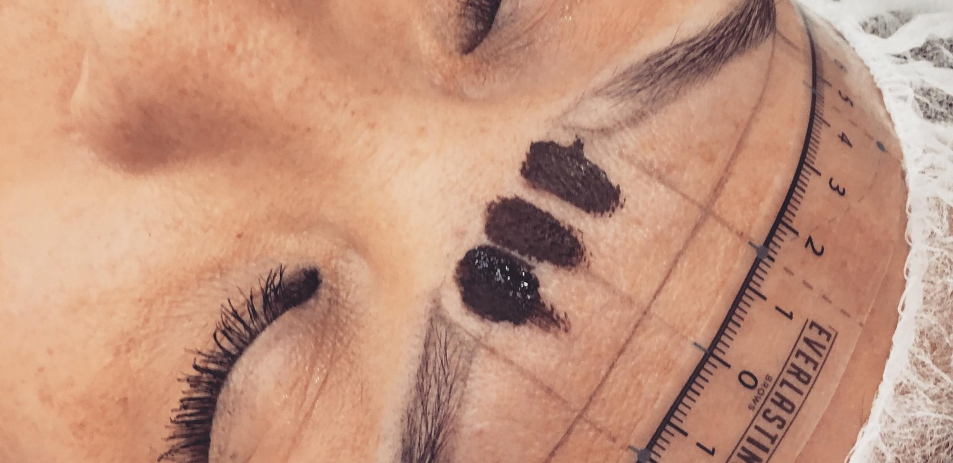 pre draw-microblading  lashes, dallas, d