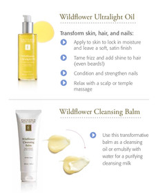 WILDFLOWER COLLECTION This transformative gel balm transitions to an oil cleanser when massaged into skin and a purifying milk when emulsified with water. Ideal for all skin types, the natural botanical oils attract excess oil and debris, melting away impurities and makeup, including eye makeup. Perfect alone or as a first step in a double cleanse with your favorite Eminence cleanser, this gel balm rinses clean, leaving skin soft and supple with no residue.