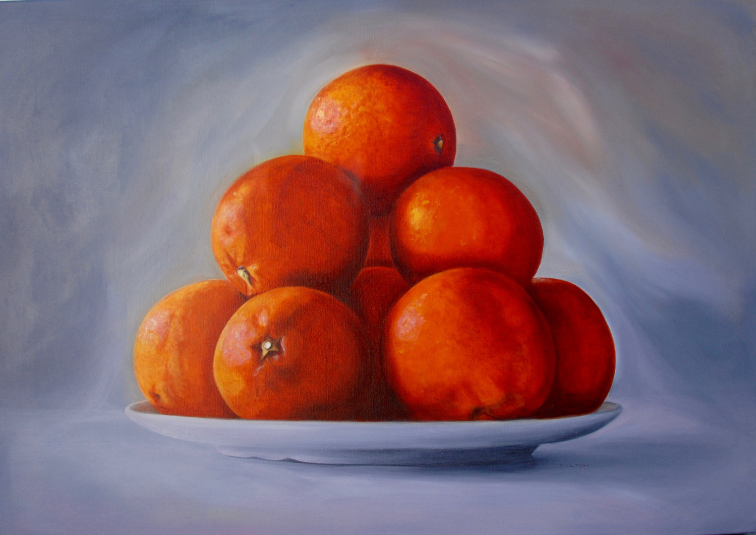 Blood Oranges, White Plate - K. FELTON.j