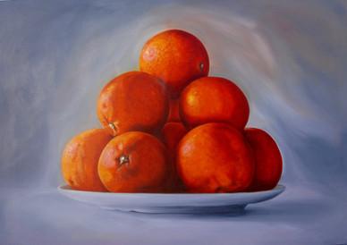 Blood Oranges, White Plate - K. FELTON.j