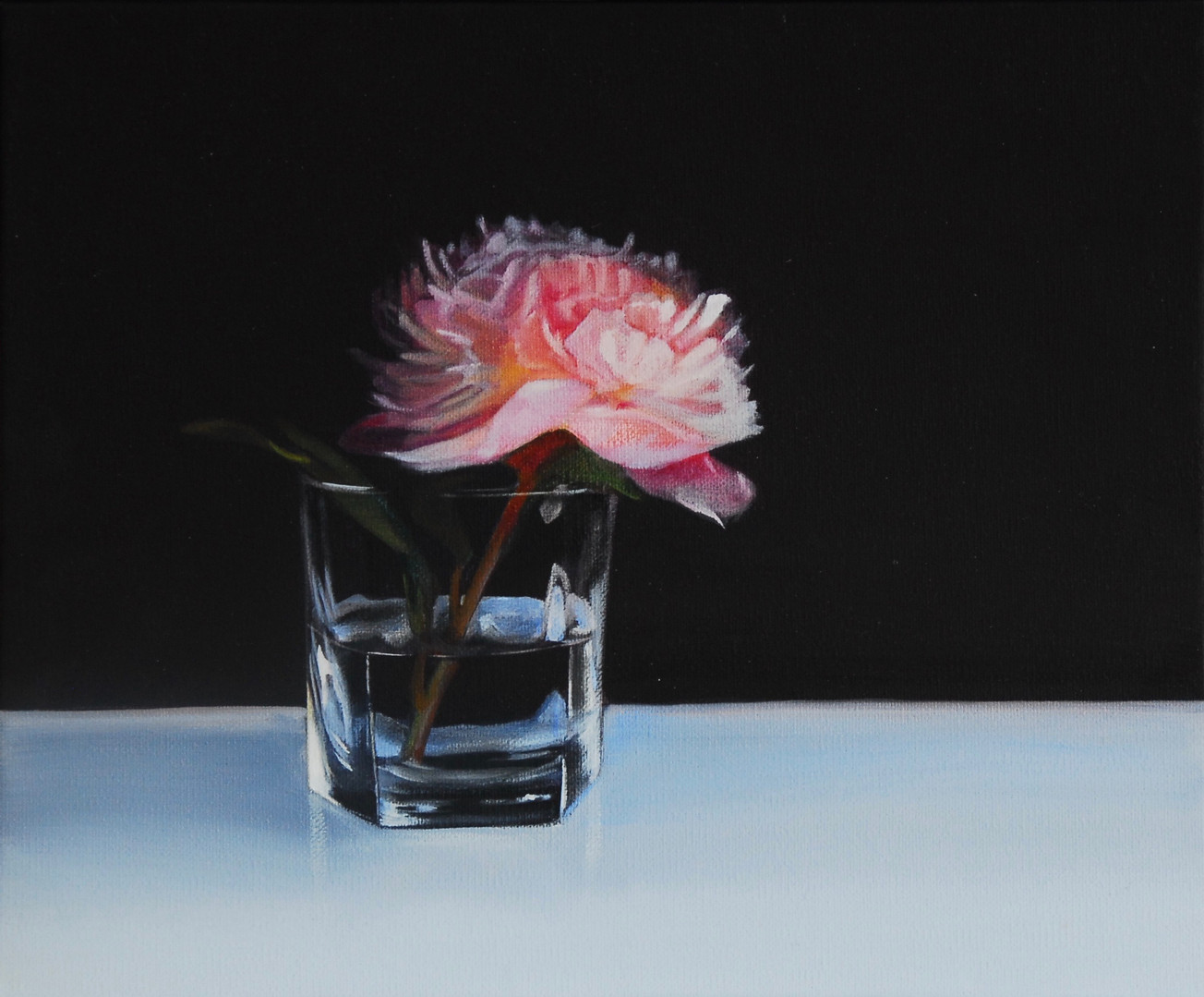 KATE FELTON HALL Peony in Old Whisky Gla