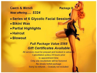 Hair and Skin Package Call 818.835.2757 for more info....
