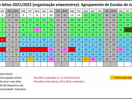 Novo Calendário Escolar 2021/2022