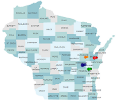 WI Map of Fox Valley-Pinned.png