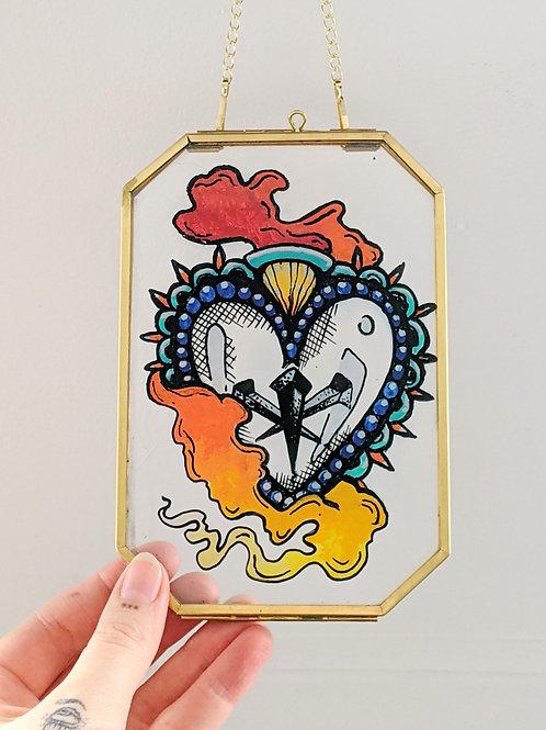 Reverse Glass Sacred Heart