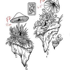 Mushroom mini- landscapes