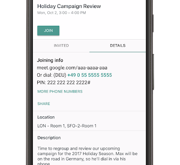 Dial into a Hangouts Meet video call with an international phone number for G Suite