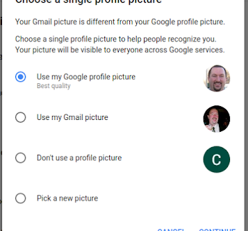 Set profile picture for Gmail and all Google apps